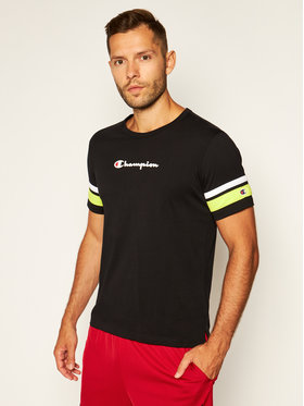 Champion Champion T-Shirt Scripe Detail Script Logo 214267 Černá Comfort Fit