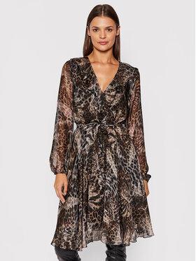 Guess Guess Letní šaty Emilia W1BK03 WE550 Hnědá Slim Fit