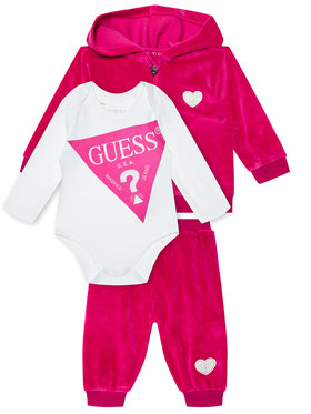 Guess Guess Completo felpa, body e pantalone tuta H0BW01 KA2X0 Rosa Regular Fit