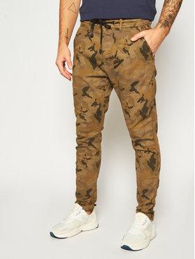 Pepe Jeans Pepe Jeans Spodnie materiałowe GYMDIGO Johnson Knit PM211367 Zielony Relaxed Fit