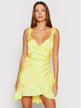 Guess Guess Коктейлна рокля Larissa W1GK0W WCUN0 Жълт Slim Fit