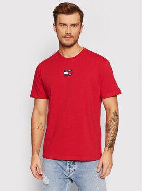 Tommy Jeans Tommy Jeans T-Shirt Badge DM0DM10925 Czerwony Regular Fit