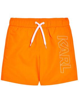 KARL LAGERFELD KARL LAGERFELD Szorty kąpielowe Z20055 S Pomarańczowy Regular Fit
