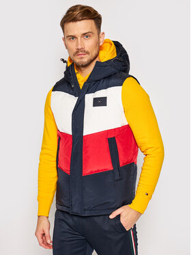 Tommy Hilfiger Tommy Hilfiger Vestă Chevron Col Block Vest MW0MW15803 Colorat Regular Fit