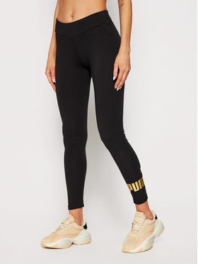 Puma Puma Leggings Essentials Metallic 586896 Fekete Tight Fit