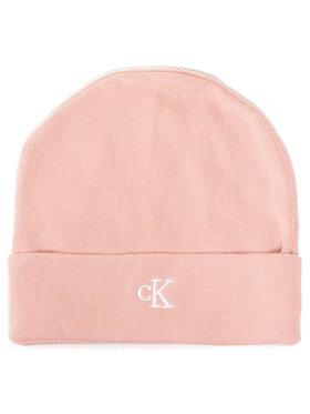 Calvin Klein Jeans Calvin Klein Jeans Čepice Monogram Beanie IU0IU00145 Růžová