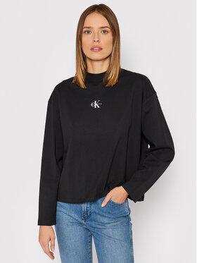 Calvin Klein Jeans Calvin Klein Jeans Блузка Micro Monogram J20J216773 Чорний Loose Fit