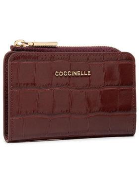 Coccinelle Coccinelle Mały Portfel Damski HW6 Metallic Croco Shiny Soft E2 HW6 17 01 01 Bordowy