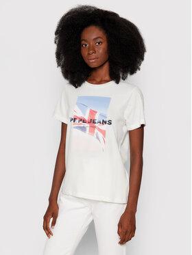 Pepe Jeans Pepe Jeans T-Shirt Belen PL504977 Béžová Regular Fit