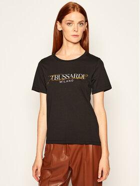 Trussardi Trussardi T-Shirt Soft Pure 56T00281 Černá Regular Fit