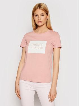 Tommy Hilfiger Tommy Hilfiger T-shirt Tommy Box WW0WW30658 Rosa Regular Fit