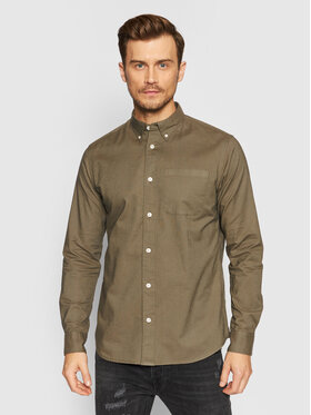 Selected Homme Selected Homme Chemise Rick 16077359 Vert Regular Fit