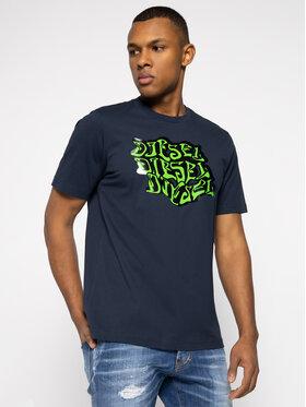 Diesel Diesel T-Shirt T-Just-J20 00SASG 0091A Tmavomodrá Regular Fit