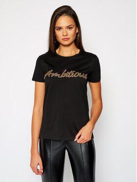Marella Marella T-shirt Coccio 39760208 Noir Regular Fit