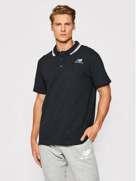 New Balance New Balance Polo Classic MT01983 Czarny Regular Fit