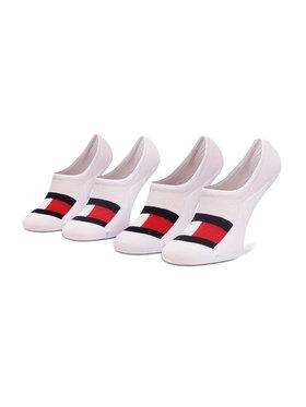 Tommy Hilfiger Tommy Hilfiger Set de 2 perechi de șosete scurte pentru bărbați 100002662 Alb