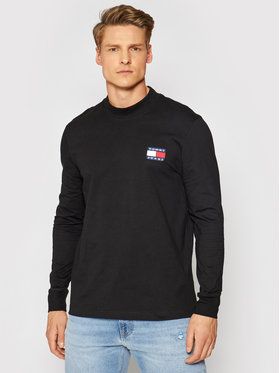 Tommy Jeans Tommy Jeans Hosszú ujjú Tjm Badge Mock Neck DM0DM10281 Fekete Regular Fit