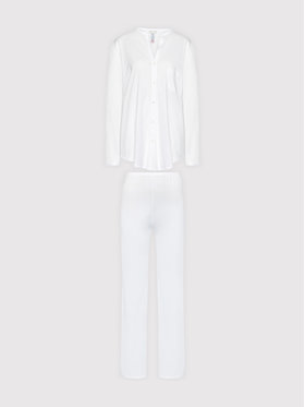 Hanro Hanro Pigiama Deluxe 7956 Bianco