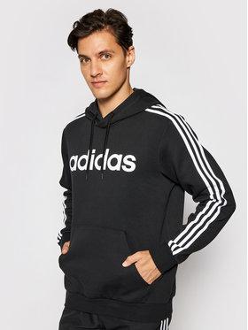 adidas adidas Mikina Essentials 3-Stripes DQ3096 Čierna Regular Fit