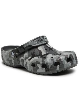 Crocs Crocs Pantoletten Classic Printed Camo Clog 206454 Grau