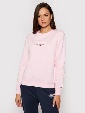 Tommy Jeans Tommy Jeans Mikina Tjw Essential Logo DW0DW08973 Ružová Regular Fit