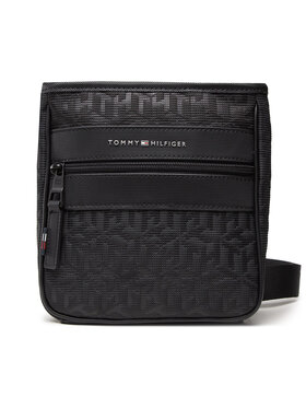 Tommy Hilfiger Tommy Hilfiger Válltáska Elevated Nylon Mini Crossov Mono AM0AM07094 Fekete
