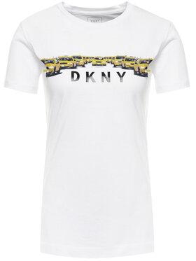 DKNY DKNY T-Shirt P9EA2CNA Biały Regular Fit