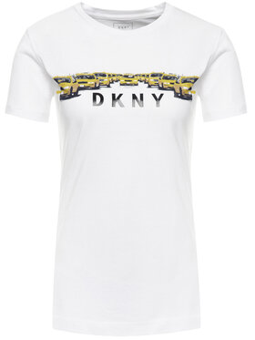 DKNY DKNY T-Shirt P9EA2CNA Bílá Regular Fit