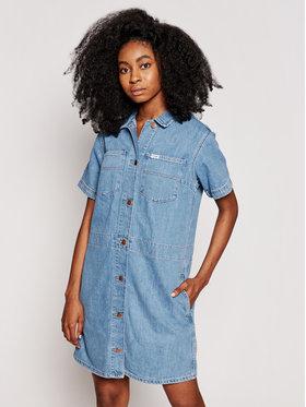 Wrangler Wrangler Sukienka jeansowa Chore W23FZB26L Niebieski Relaxed Fit