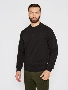 Calvin Klein Calvin Klein Majica dugih rukava Center Logo Stretch K10K106478 Crna Regular Fit