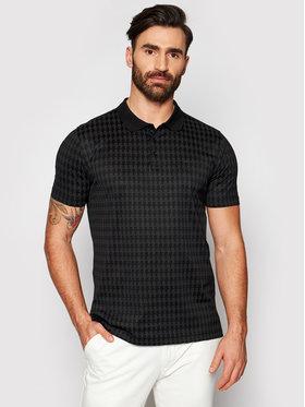 KARL LAGERFELD KARL LAGERFELD Тениска с яка и копчета 745006 511202 Черен Regular Fit