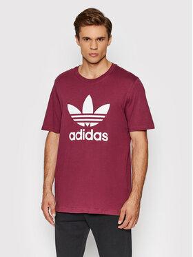 adidas adidas T-Shirt adicolor Classic Trefoil H06641 Bordowy Regular Fit