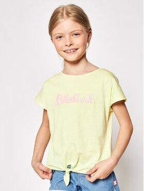 Billieblush Billieblush Marškinėliai U15870 Geltona Regular Fit