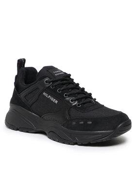 Tommy Hilfiger Tommy Hilfiger Sportcipő Outdoor Sneaker Mix Runner FM0FM03274 Fekete