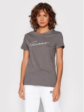 Guess Guess T-Shirt Amelia O1BA08 K8HM0 Γκρι Regular Fit