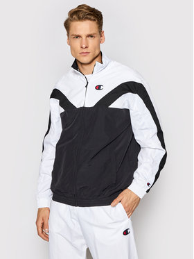 Champion Champion Geacă Zip-Up Colour Block And Strpie Track 214261 Negru Custom Fit
