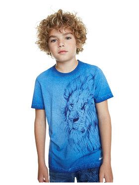 Desigual Desigual T-Shirt Joana 20SBTK15 Niebieski Regular Fit