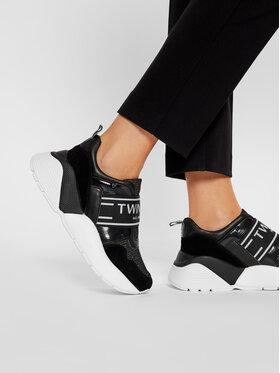 TwinSet TwinSet Sneakersy Running 202TCP052 Čierna