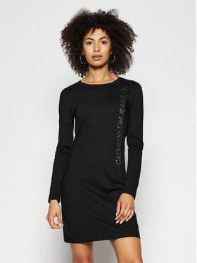Calvin Klein Jeans Calvin Klein Jeans Každodenní šaty J20J215670 Černá Slim Fit