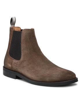 Gant Gant Kotníková obuv s elastickým prvkem Sharpville 23653209 Hnědá