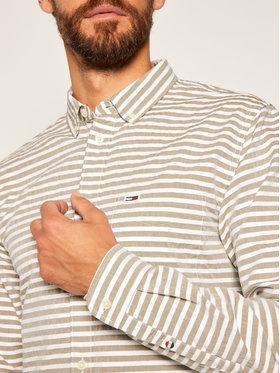 Tommy Jeans Tommy Jeans Marškiniai Tjm Horizontal Stripe DM0DM07919 Žalia Regular Fit