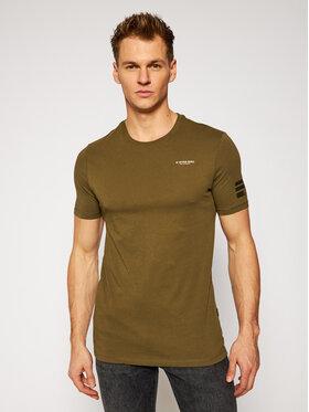 G-Star Raw G-Star Raw T-Shirt Text Gr D17135-336-1866 Zelená Slim Fit