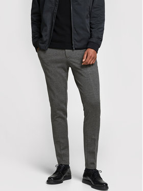 Jack&Jones Jack&Jones Kalhoty z materiálu Marco Phil 12173628 Šedá Slim Fit
