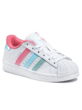 adidas adidas Pantofi Superstar C FZ0651 Alb
