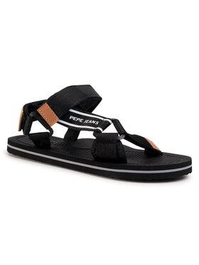 Pepe Jeans Pepe Jeans Sandále Pool Basic Men PMS90081 Čierna