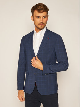 Tommy Hilfiger Tailored Tommy Hilfiger Tailored Σακάκι Flex Check Sep Blazer TT0TT07498 Σκούρο μπλε Slim Fit
