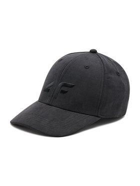 4F 4F Kepurė su snapeliu H4L21-CAD001 Juoda