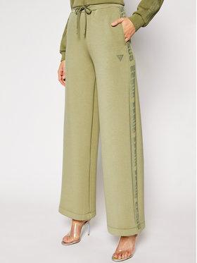 Guess Guess Παντελόνι υφασμάτινο Scuba O1RA57 K7UW0 Πράσινο Oversize