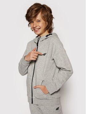 4F 4F Sweatshirt HJL21-JBLM001A Grau Regular Fit