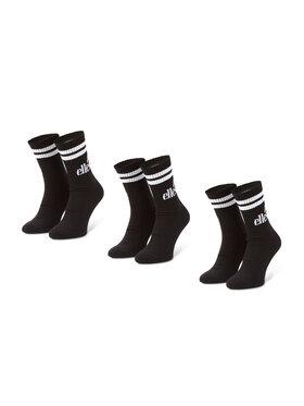 Ellesse Ellesse Súprava 3 párov vysokých pánskych ponožiek Pullo SAAC0620 Čierna